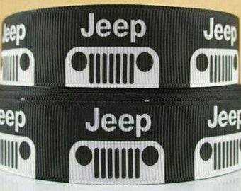 5 Yards of Jeep 1 Inch Grosgrain Ribbon