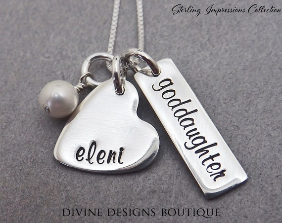Gift For Goddaughter Birthstone Necklace Sterling By: Goddaughter Gift Personalized Jewelry By DivineDesignJewelers