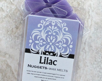 Lilac Wax scented melts, strong paraffin wax tarts, realistic floral scent, no burn home scent, sweet floral scent