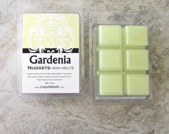 Gardenia Scented Wax Melts, beautiful floral scent, super strong wax melts, springtime floral fragrance, no burn home scent