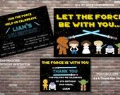 Star Wars Birthday Invitations, Star Wars Birthday Decorations, Star Wars Poster, Star Wars Thank You Card, DIY PRINTABLE,Star Wars Birthday