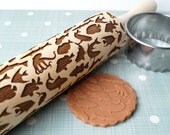 Embossing rolling pin, Sea Creatures design, Cookie decorating rolling pin