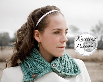Knitting Pattern for Women's Chunky Cowl - Holy Cowl