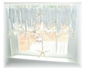 RESERVED FOR KIM Whitewashed Beachy Keen  Driftwood   Window Treatment Valance Curtain
