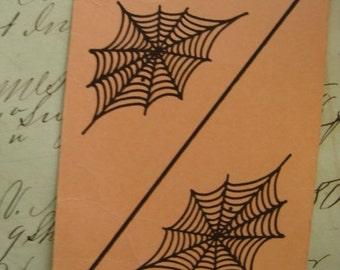 Vintage Spider Web Flash Card 1950s Antique Vintage Halloween Decor Display
