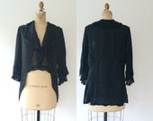 antique jacket / black silk jacket / Gilded Age jacket