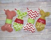 Pet Stockings - Personalized Pet Christmas Stockings - Personalized Pet Stockings - Dog Stockings - Cat Stockings - EMBROIDERED Pet Stocking
