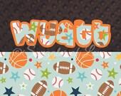 Sports Blanket - Boys Sports Baby Blanket - Personalized Blanket - Football Blanket - Basketball Blanket - Baseball Blanket - Sports Star