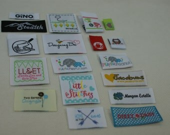150PCS Custom Woven labels Artwork Taffeta Clothing Labels - personalized name labels free design your tag logo high density weave fabric