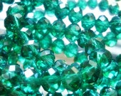 8mm AB Teal Crystal Rondelles,Faceted Crystal 8 Beads