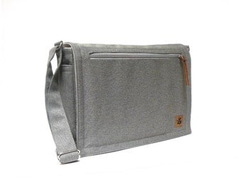 Ultimate Stash laptop messenger bag - gray