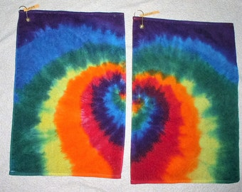 Golf Towels, tie dyed, 100% cotton. GT24,25.