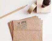 Slanted Banner Wooden Address Stamp