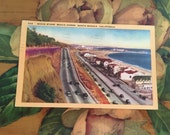Movie Stars Postcard Vintage Souvenir Photos Travel USA Western Santa Monica California Map
