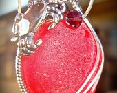 Sea Glass Large Red