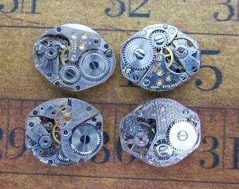 Steampunk watch parts - Vintage Antique Watch movements Steampunk - Scrapbooking D65