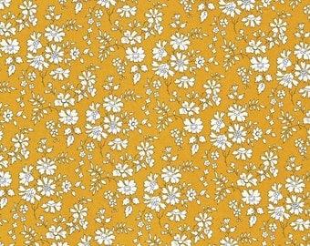 Liberty Fabric Capel G Tana Lawn Fat Quarter Mustard Yellow Floral- * PRE-ORDER *