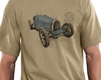 Retro Vintage Bugatti Type 35 Racing Car Design T-shirt