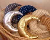 Choose your Moon Pillow - Moon Cushion - Moon Softie - Available in 5 Styles - Faux Leather or Organic Cotton