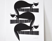 Pine Martens - Open Edition Giclee Print A3