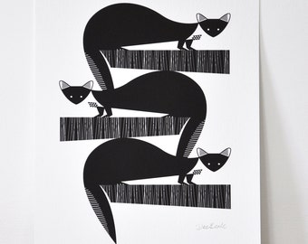Pine Martens - Open Edition Giclee Print
