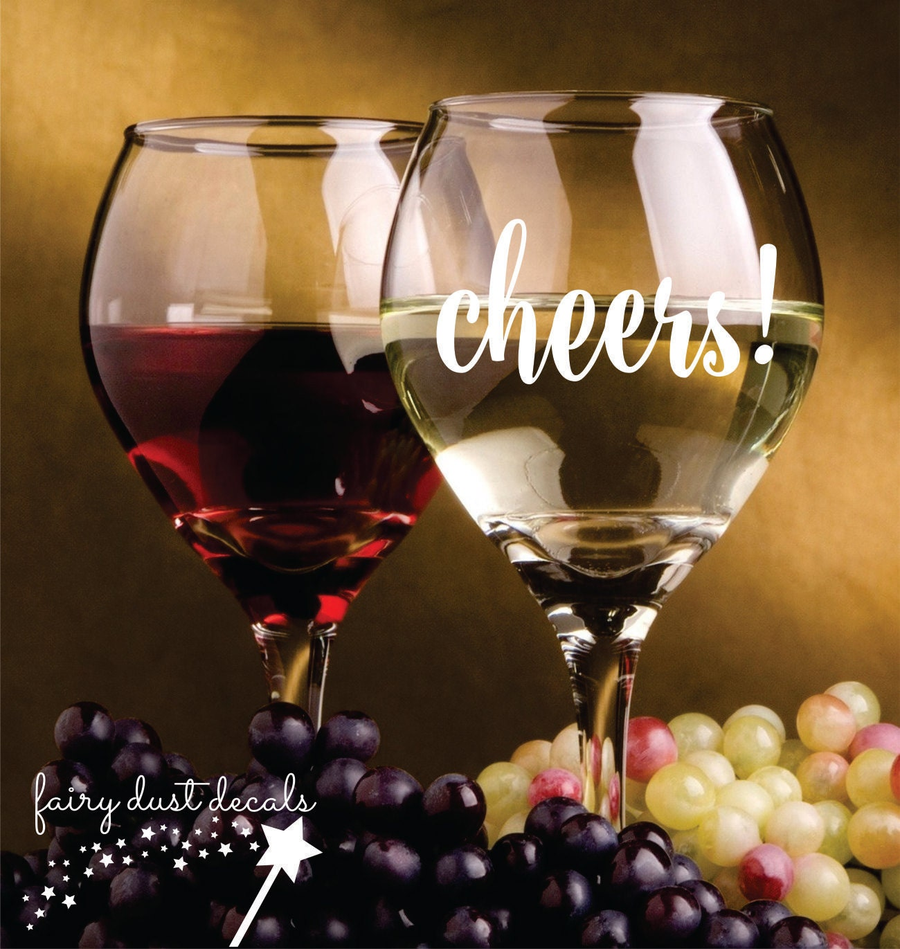 Cheers Decal Wine Glass Decal Wedding Stickers Mason Jar - Vinyl decals for wine glasses uk