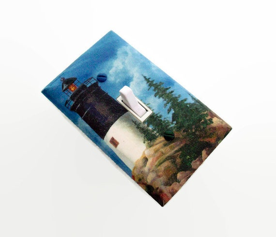 Items similar to lighthouse light switch cover light for Lighthouse switch plates