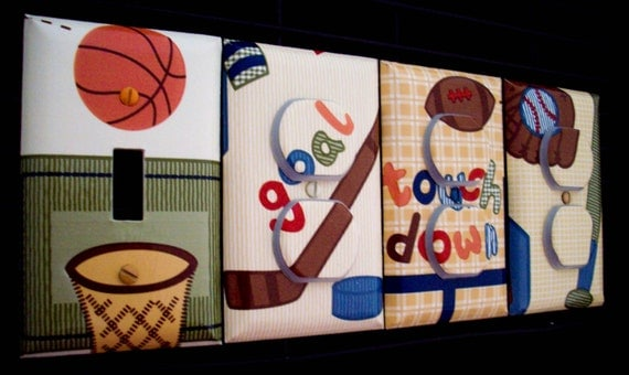Sports Light Switch Cover Outlet Covers Basketball