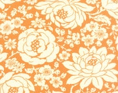 WINTER SALE - Quilt Backing Cut - 6 1/2 yards - Hello Darling - Floral in Orange (55110-16) - Bonnie and Camille - Moda Fabrics