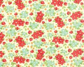WINTER SALE - Hello Darling - 1 Yard - Wild Flowers in Cream (55118-14) - Bonnie and Camille for Moda Fabrics