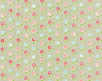 SUMMER SALE - 1 yards - Vintage Picnic -  Rosie in Gray (55121-15) - Bonnie and Camille for Moda Fabrics