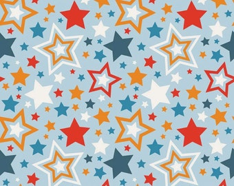 BLACK FRIDAY SALE - 4 yards - Lucky Star - C4830-Main in Blue - Zoe Pearn for Riley Blake Designs
