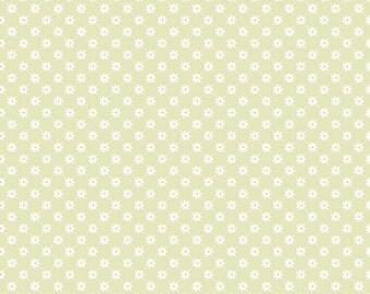 SPRING SALE - Dream and a Wish - 1 yard - C4816-Flower Lattice in Green - Sandra Workman for Riley Blake Designs