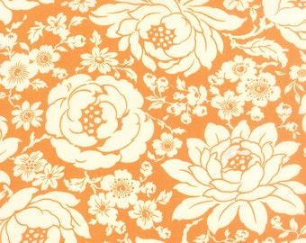 SUMMER SALE - Quilt Backing Cut - 6 1/2 yards - Hello Darling - Floral in Orange (55110-16) - Bonnie and Camille - Moda Fabrics