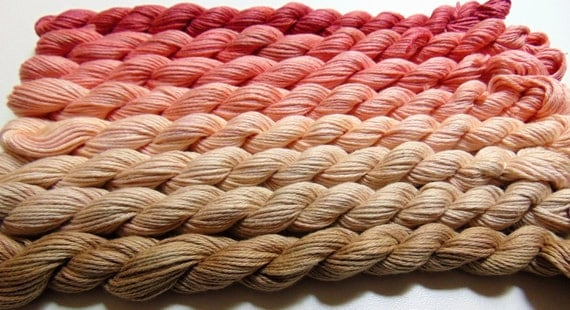 On A Bed of Roses- 100 Cotton Yarn, Hand Dyed, Fingering Weight, Ombre