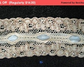 Winter SALE - Antique Ribbon Lace Edwardian Bridal Doll Trim