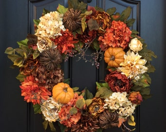 RESERVED Large Thanksgiving Wreath, XL Fall Wreaths, Fall Wreaths, Wreaths, Fall Door Wreaths, Thanksgiving Wreaths, Fall Wreath Front Door