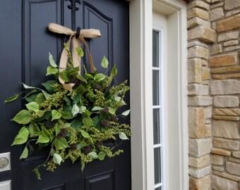 Wreaths, Wreaths, Burlap Bow, Year Round Wreaths, Twoinspireyou, Etsy Wreaths, Grapevine Wreaths, Ivy and Vine, Handmade Wreaths