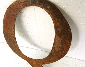Rusty Old Steel Letter Q