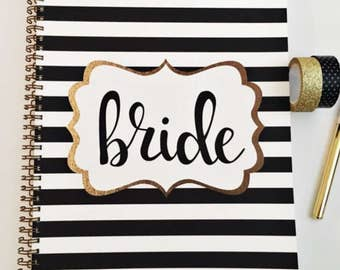 Bridal Shower Journal and Guest Book, bridal shower keepsake and gift record, personalization available.