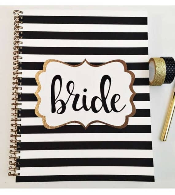 Bridal Shower Journal and Guest Book bridal shower keepsake