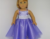 Lavender Party Dress, Fits 18 Inch American Girl Dolls