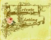 Private listing - 8.5 yds IVORY  Velvet flower trim