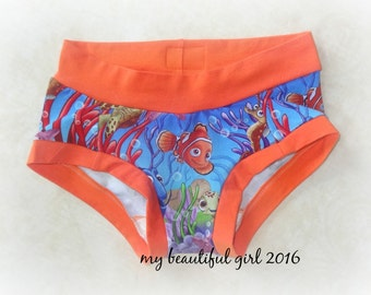 Swimming Friends Womens Dundies -  You choose size & trim color
