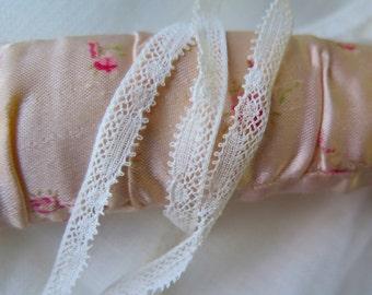 """Antique Baby Lace Trim Cotton Valencienne Lace 5/16"""" x 5 Yards"""
