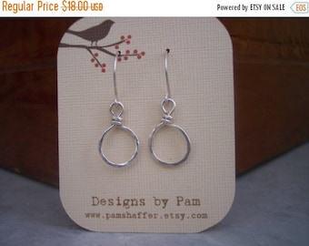 ON SALE Tiny Sterling Silver Hoops