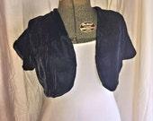 Black Velvet Bolero Jacket from the 1940s
