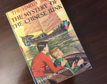 vintage children book... HARDY BOYS The Mystery of the CHINESE Junk No 39 c 1960 hardcover Book ...