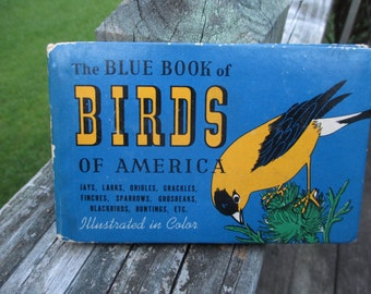 Vintage The Blue Book of Birds of America--Frank G Ashbrook--Whitman Publishing--2nd Printing 1941--Bird Watching--Bird Lover--Aviary Love