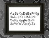AlphaOne -  a Cross-Stitch Alphabet Pattern